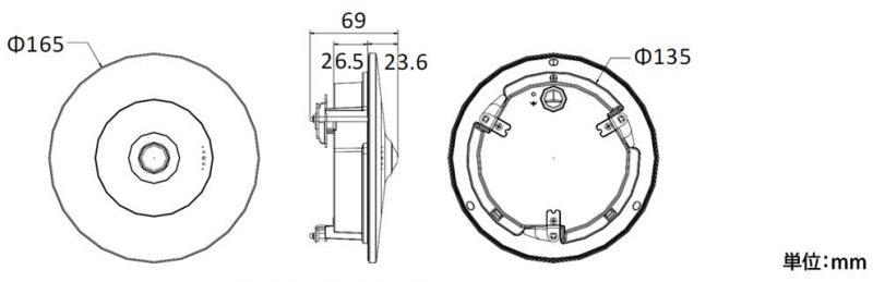 ネットワークカメラ外形寸法図